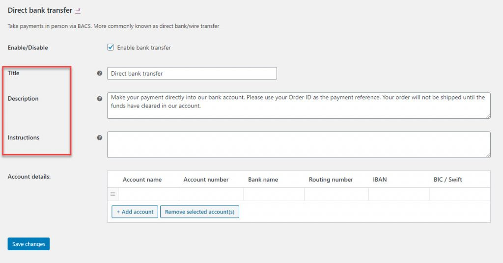 woocommerce payment options