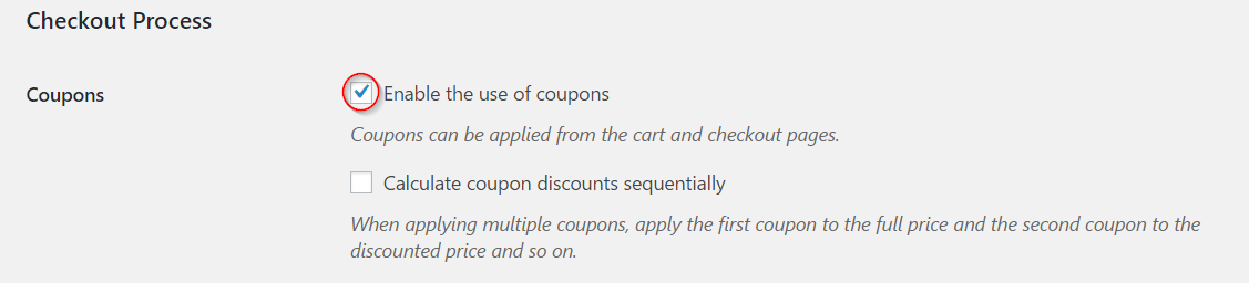 Enabling coupons