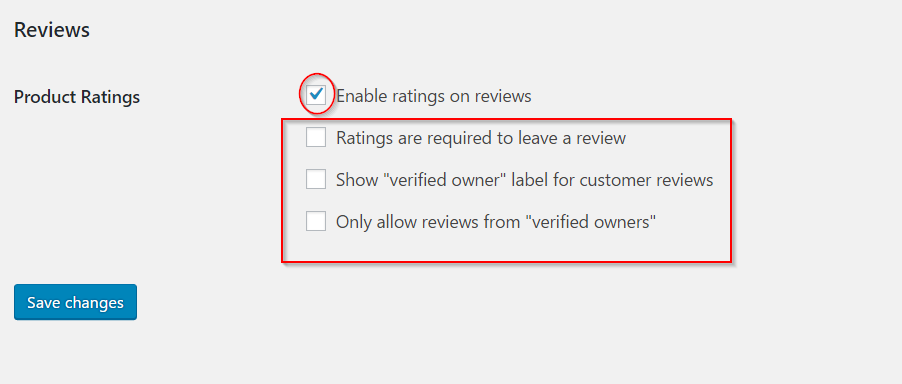 Review settings