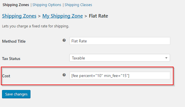 Setting up flat rate shipping cost