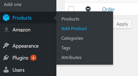 Adding a grouped product