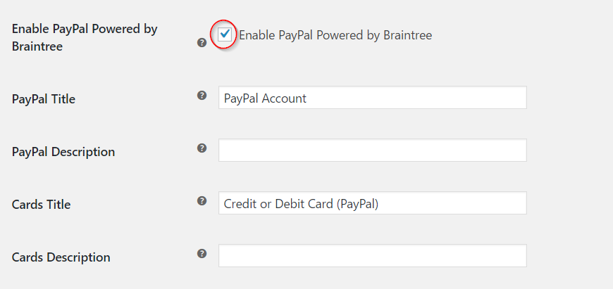 Enabling PayPal Powered by Braintree