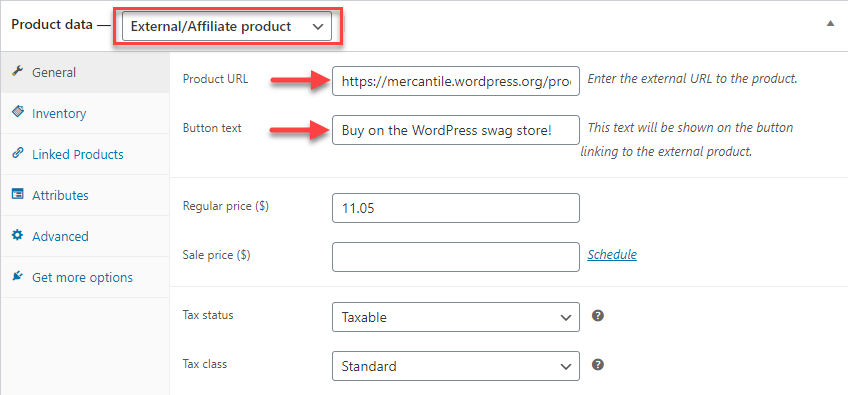 Different WooCommerce Product Types