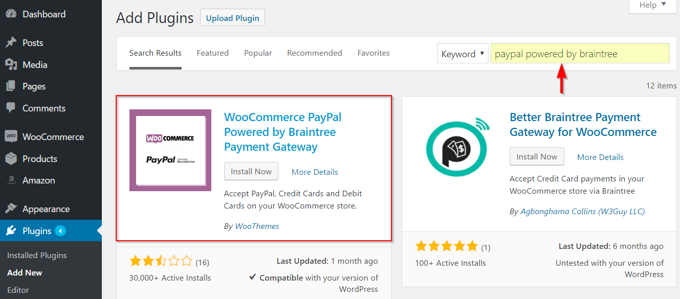 Installing PayPal by Braintree