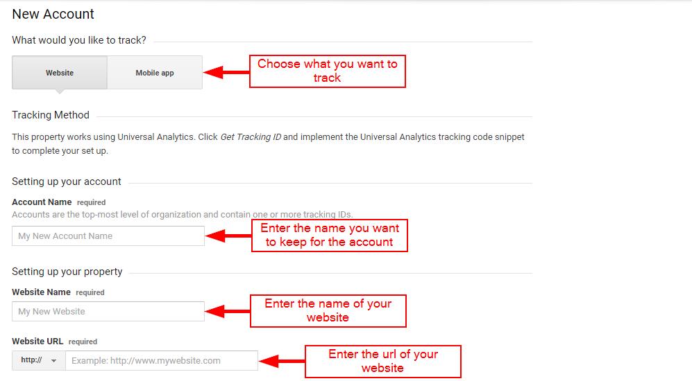 Adding site data for Google Analytics