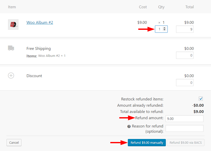 woocommerce manage refunds