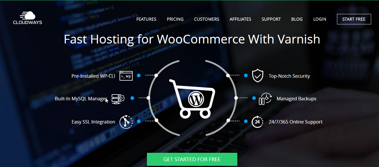 Great WooCommerce integration is ensured at all levels with Cloudways