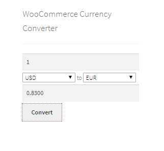 This is the currency converter widget