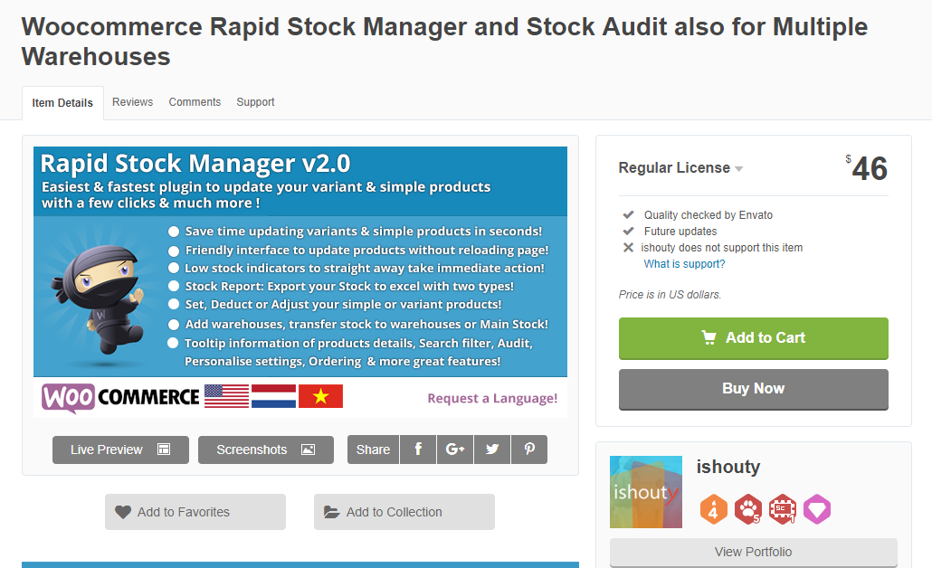 You can easily update stock from multiple warehouses using this plugin