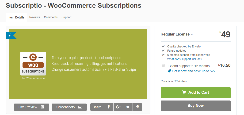 screenshot of Subscriptio plugin for Best WooCommerce Subscriptions Plugins article