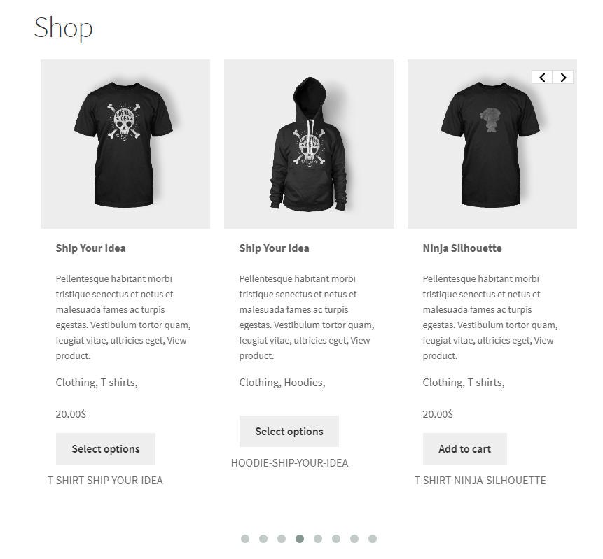 Paste the short code on the WooCommerce Shop page to display slider on that page