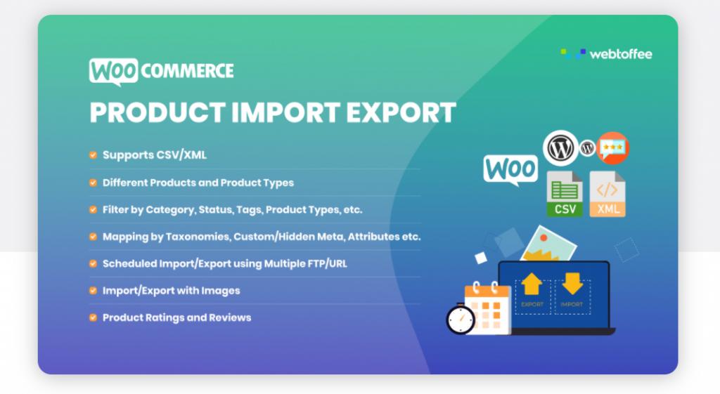 woocommerce product import export plugins