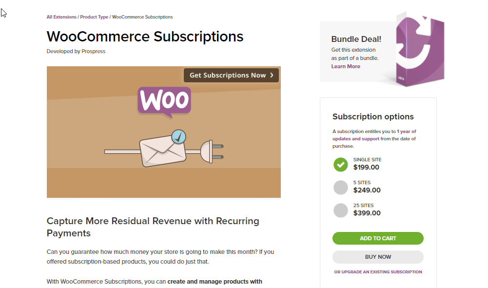 This is one of the most comprehensive options available right now to set up subscriptions