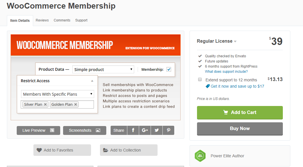The plugin is relatively less expensive, and can help you manage memberships on your WooCommerce store.