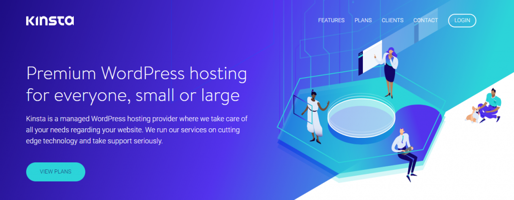 Screenshot of Kinsta, WordPress Shared hosting servce