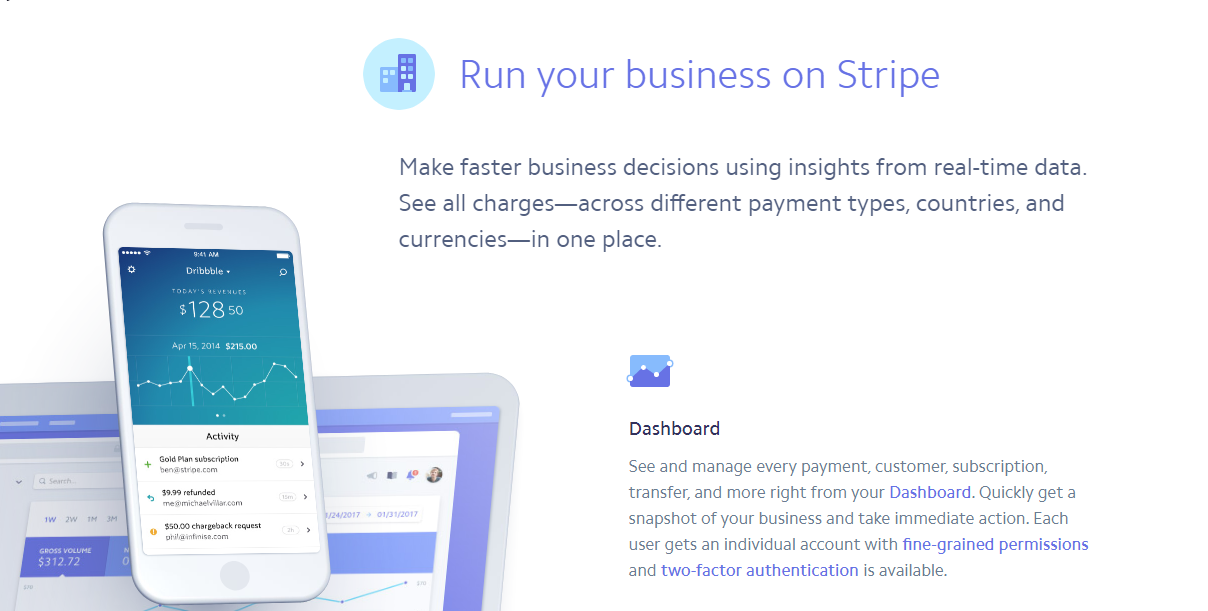 WooCommerce Stripe extension is a great option when you start out your eCommerce business