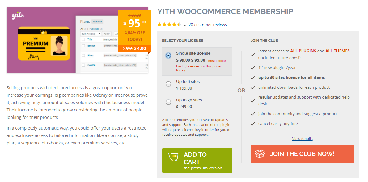 This plugin helps you manage memberships effortlessly on your site.