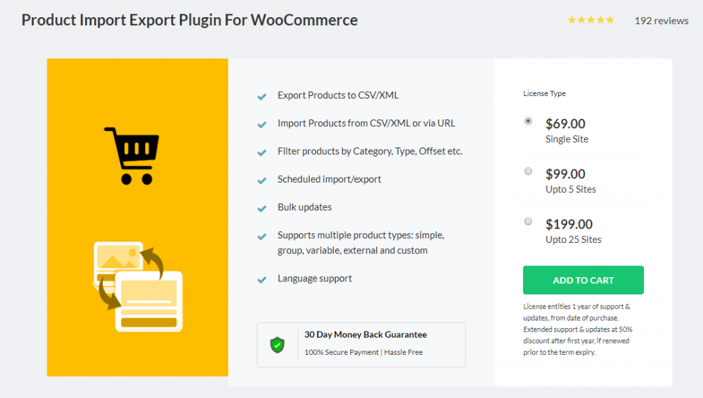 WooCommerce Export Products