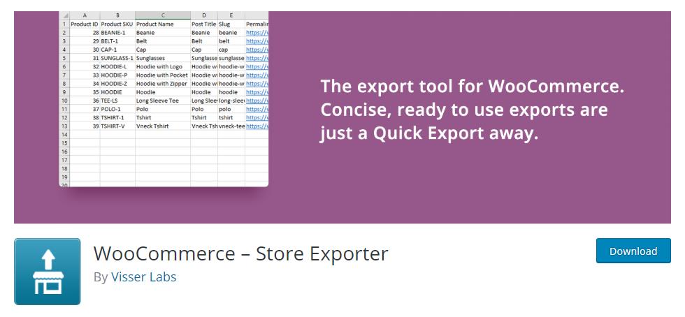 WooCommerce order export plugin