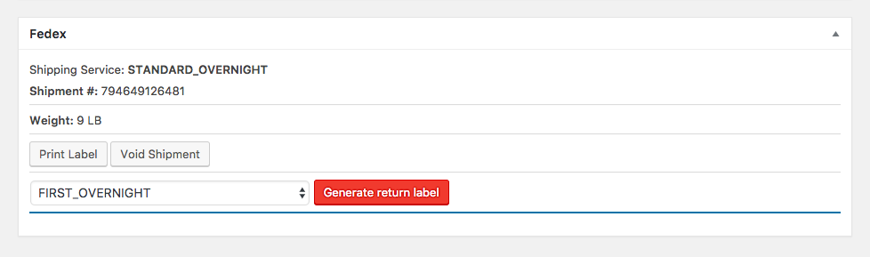 You can print both shipping and return labels