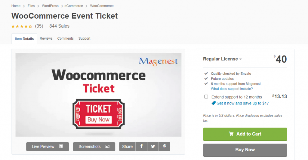 WooCommerce Tickets