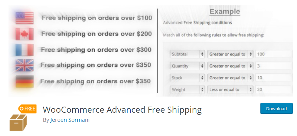 WooCommerce Free Shipping | WooCommerce Advanced Free Shipping Plugin