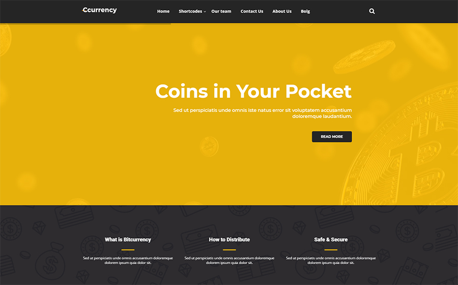 cCurrency Cryptocurrency WordPress Theme