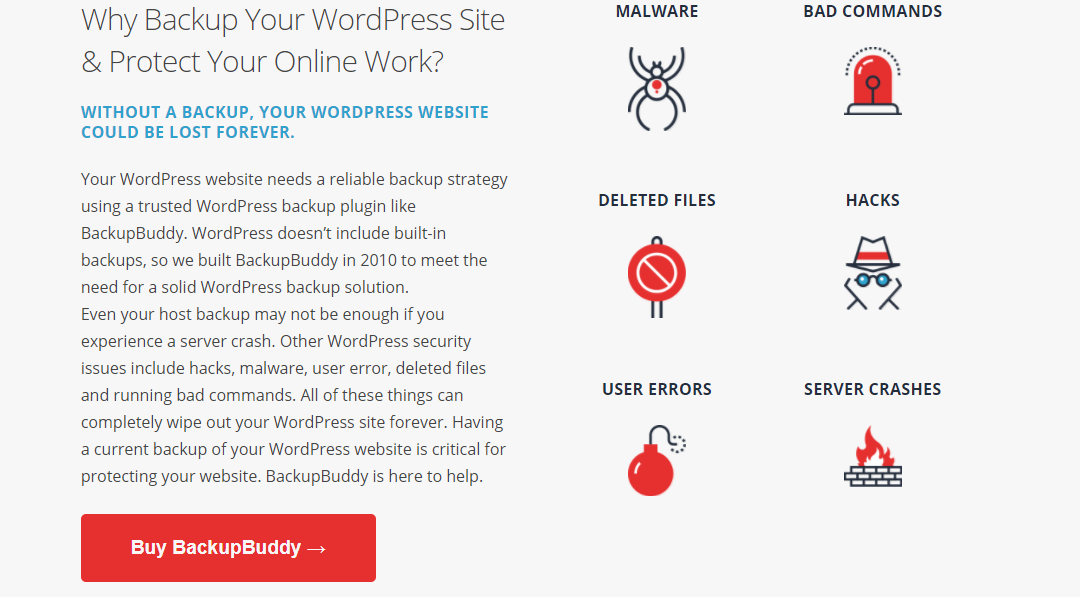 Image depicting the story of BackupBuddy WordPress Backup Plugin