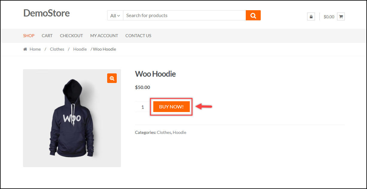 WooCommerce Skip Cart Page | Updated Add to Cart text to Buy Now!