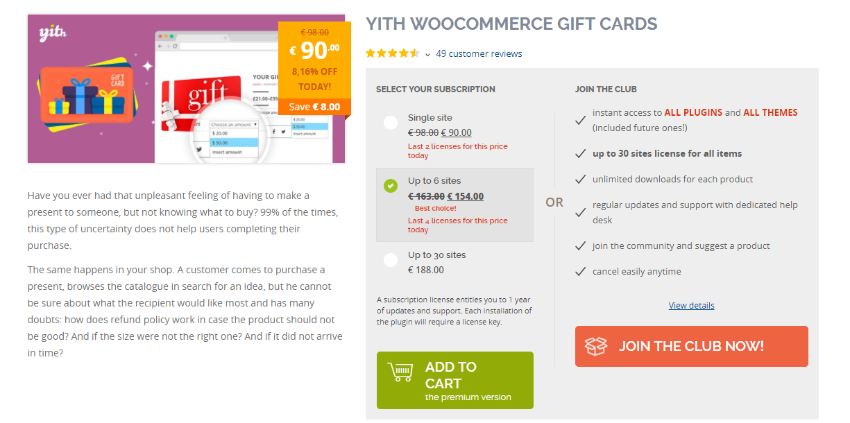 image for YITH WooCommerce Gift Cards Plugin