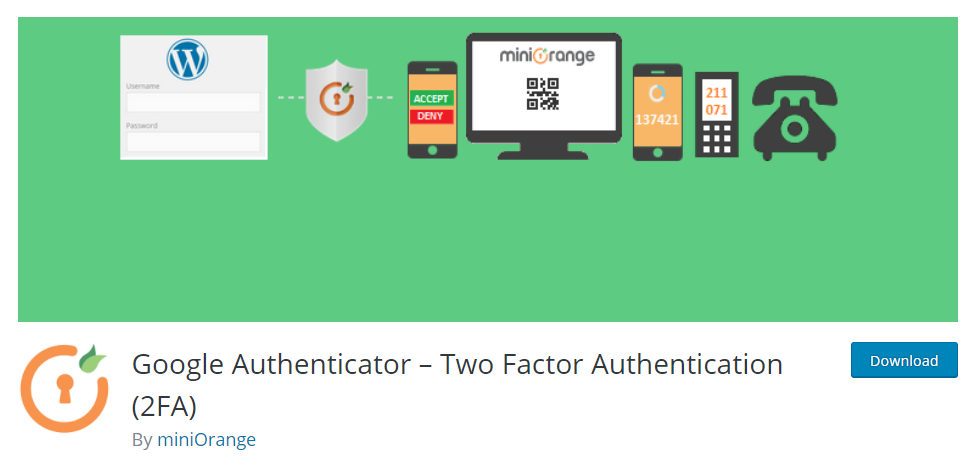 header image depicting WordPress security plugin for two factor authentication