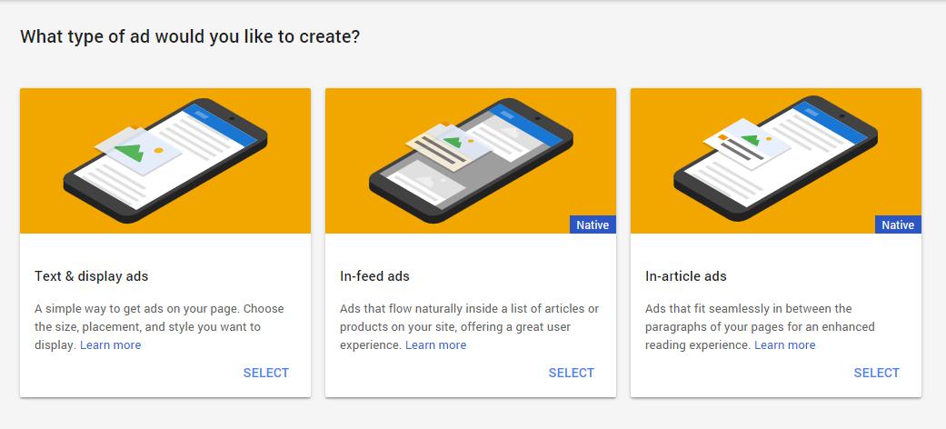 Type of ads for WordPress AdSense integration
