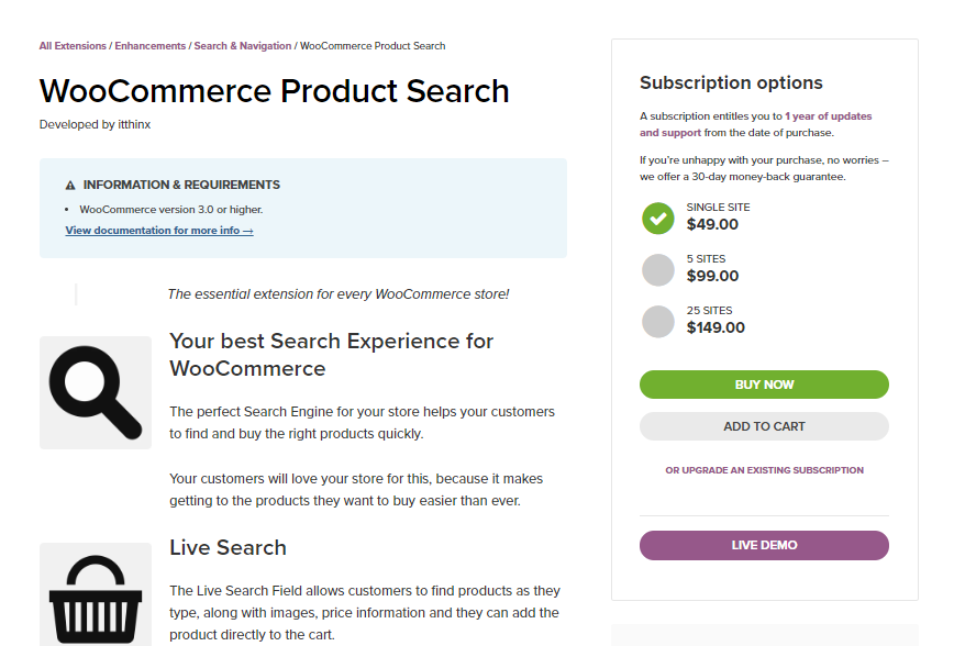 WooCommerce Product Search for WooCommerce Customer Experience for Mobile users article