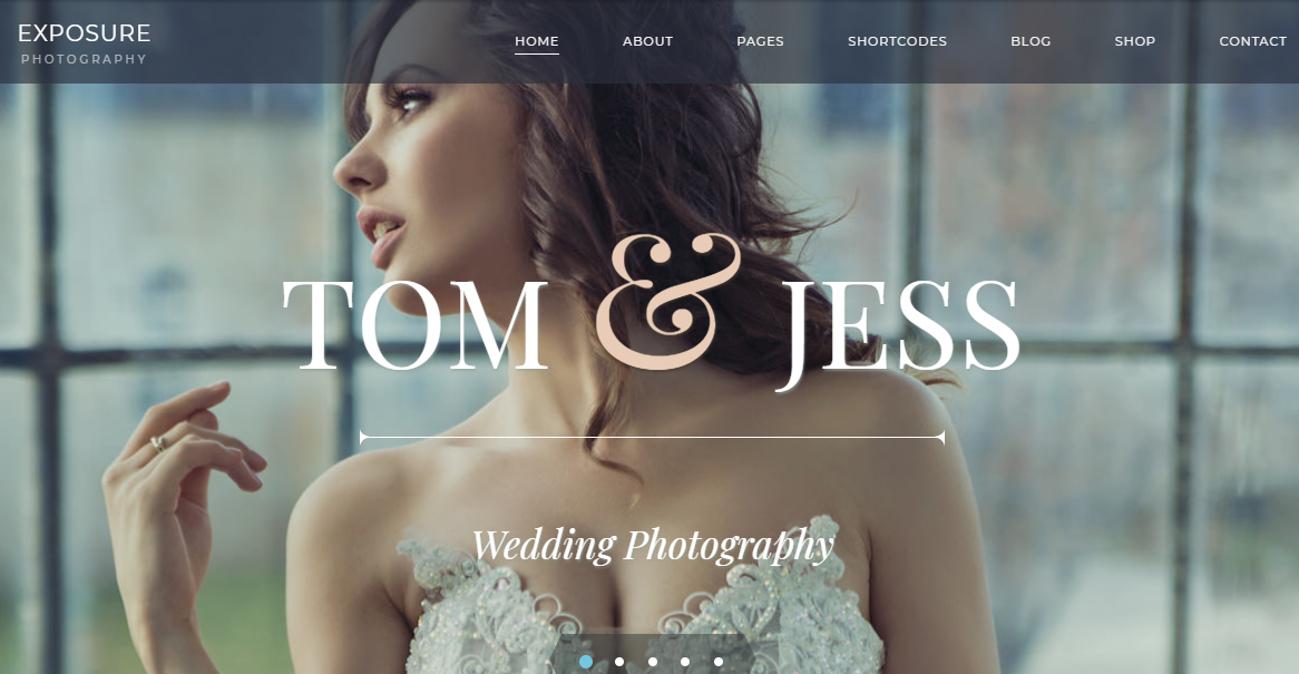 Preview of Exposure, WordPress Photography theme