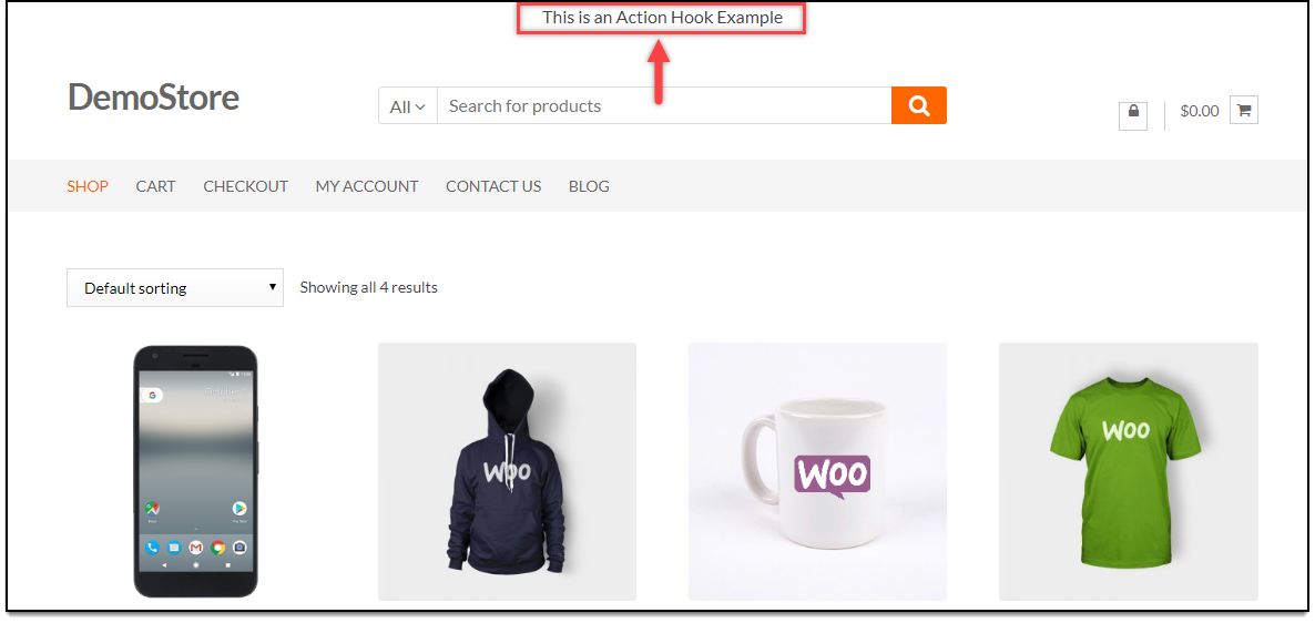 WordPress Hooks | Action hook example