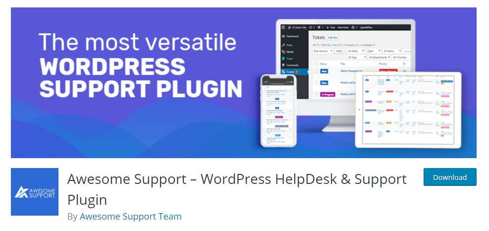 screenshot of Awesome support for WordPress Helpdesk Plugins article