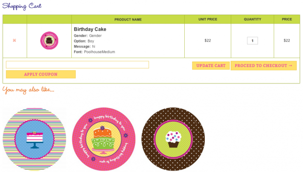 screenshot of Cart Add-ons to promote products