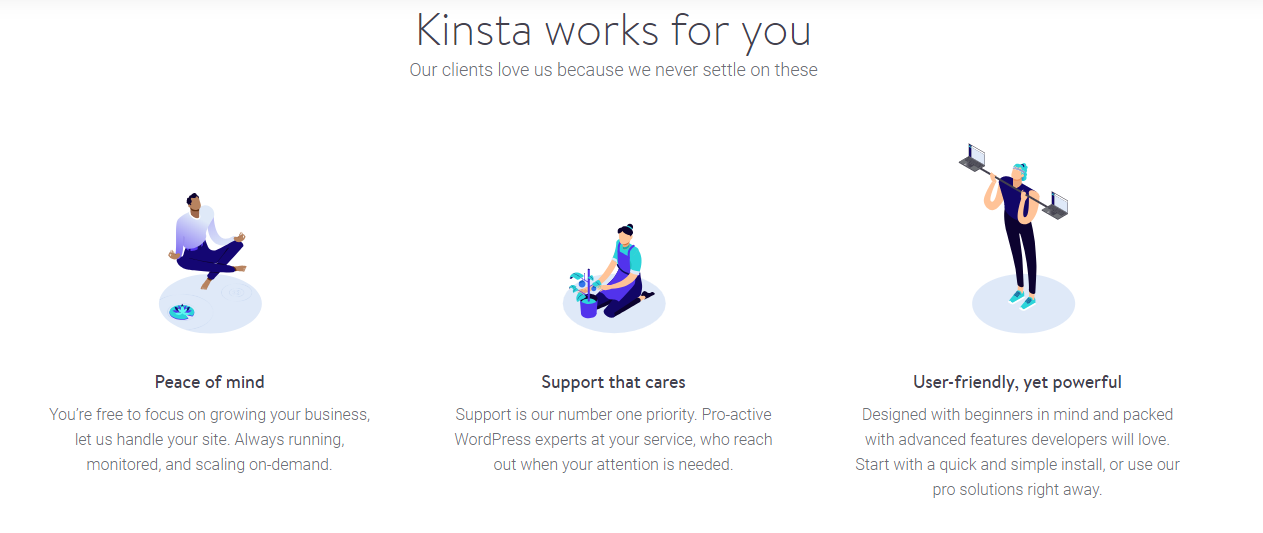 Screenshot of Kinsta, Managed WordPress Hosting service.