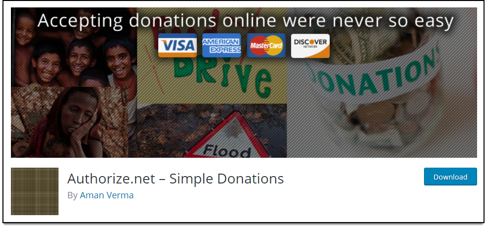 Top Free WooCommerce Authorize.Net Plugins   Authorize.net - Simple Donations