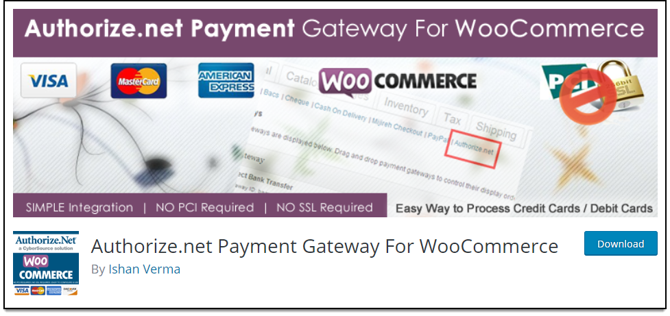 Top Free WooCommerce Authorize.Net Plugins | Authorize.net Payment Gateway For WooCommerce