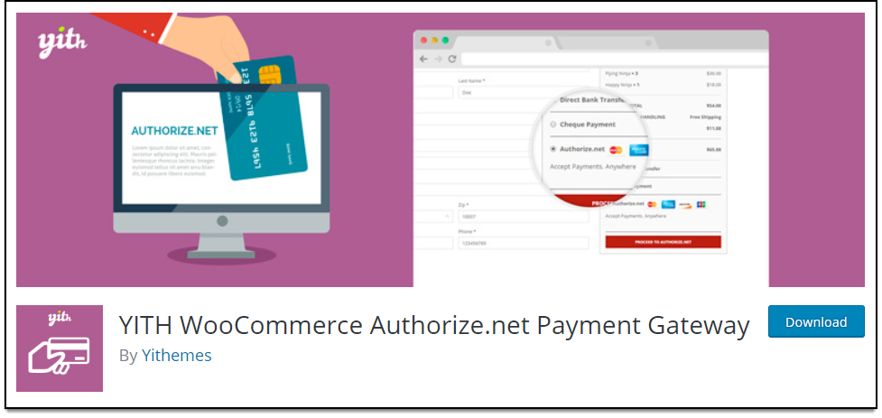 Top Free WooCommerce Authorize.Net Plugins | YITH WooCommerce Authorize.net Payment Gateway