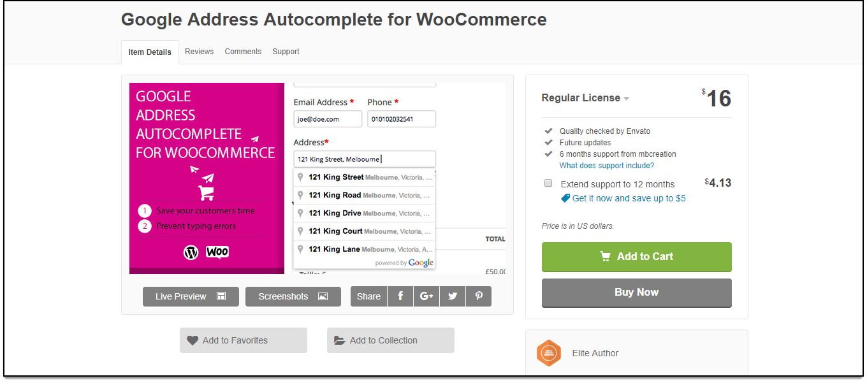Top WooCommerce Address Validation & Autocomplete Plugins | Google Address Autocomplete for WooCommerce