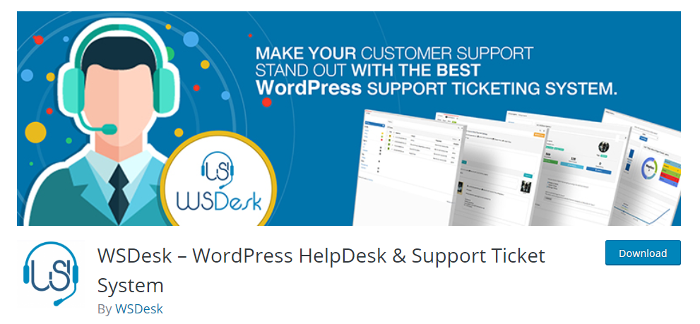 screenshot of WSDesk, WordPress Helpdesk Plugins