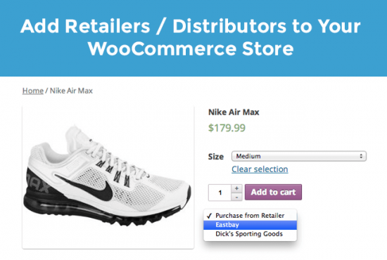 Screenshot of Product Retailer plugin for WooCommerce products article
