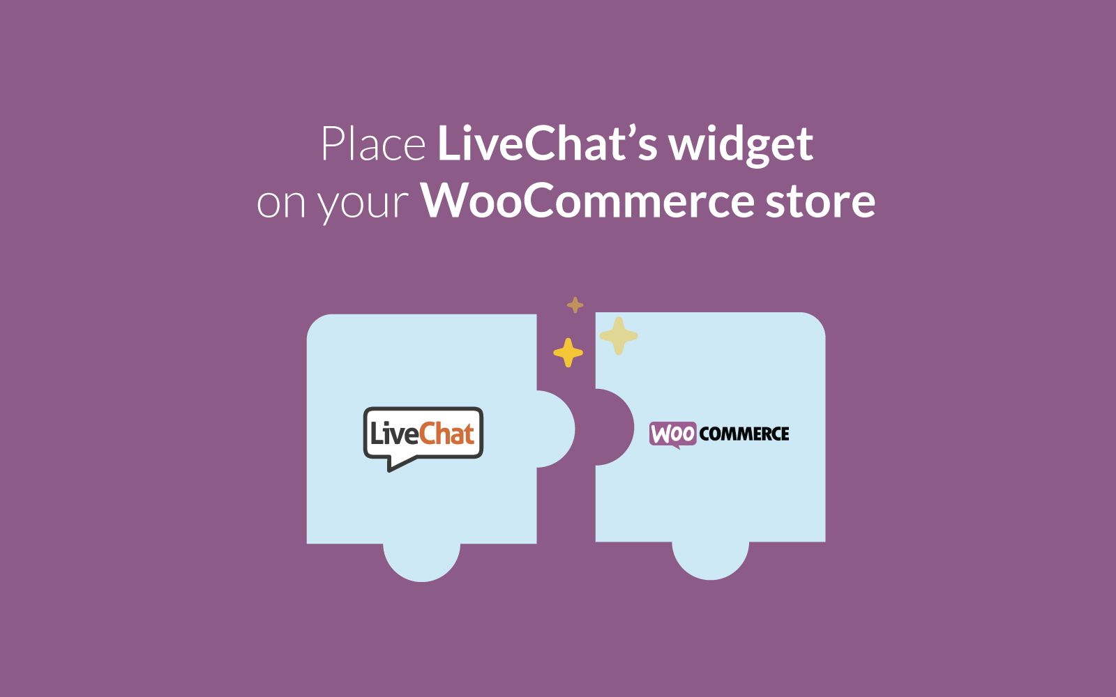 screenshot of WooCommerce LiveChat integration