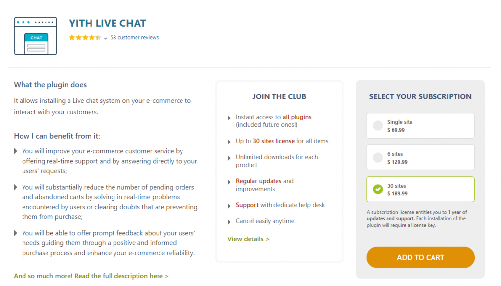YITH Live Chat This is a great option to set up a live chat window on your WordPress site. You will be able to resolve issues in real time, and as a result can offer enhanced experience for customers. If you are able to resolve presale queries in this manner, it will have a positive impact on your conversions. Similarly, you can reduce the cart abandonment rate on your site as well. The plugin allows you to save or copy the interaction between a user and an agent to improve the overall process. You will be able to keep offline messages as well as personalize the appearance of the chat window.