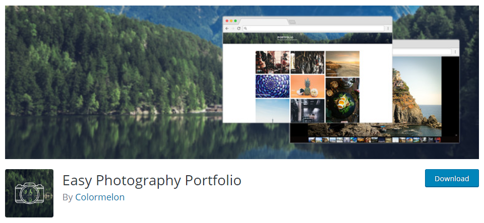 screenshot of easy photography portfolio plugin for WordPress Portfolio Plugins article.