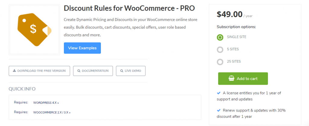 Flycart WooCommerce Dynamic Pricing plugin