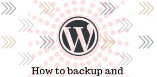 backup wordpress site