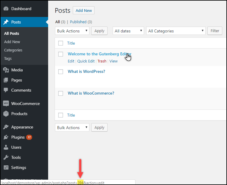 Find WordPress Post IDs | In WordPress Posts Dashboard